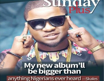 Skales Talks Sophomore Album & his Relationship with Wizkid on the Cover of 'Sunday Plus'