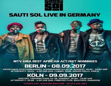 Sauti Sol embark on Europe Tour